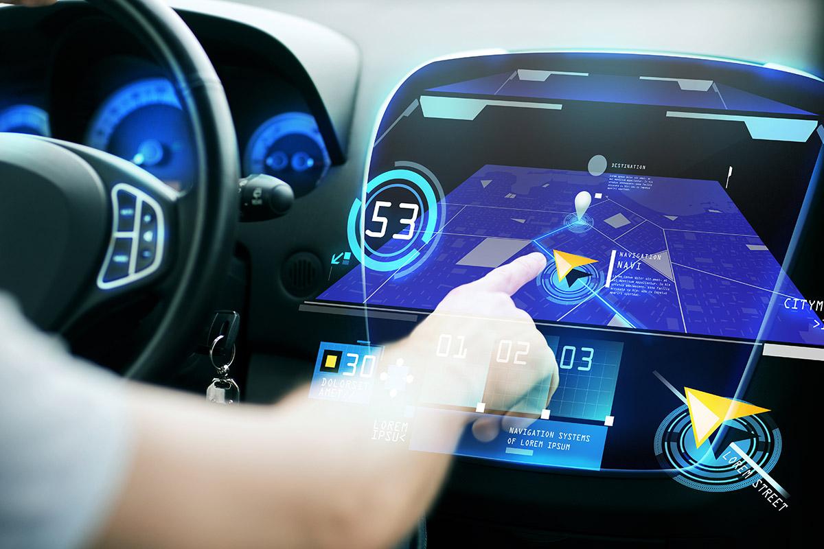 futuristische Technologie im Auto