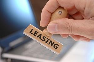 Stempel mit Leasing-Aufdruck