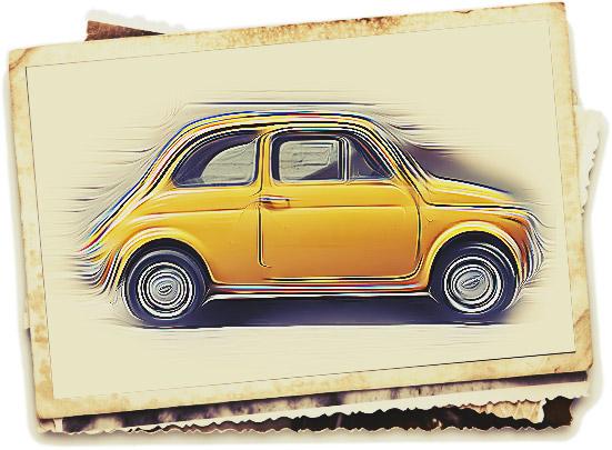 Skizze eines FIAT 500