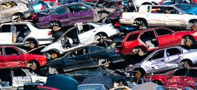 Autos nach Verschrottung