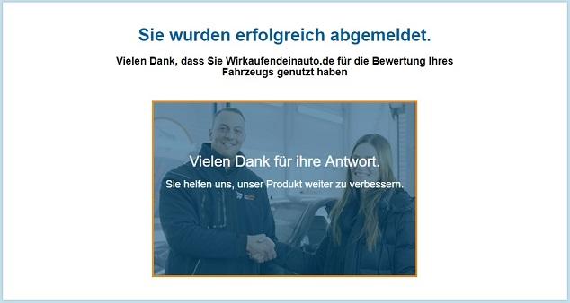 E-Mail abmelden Bestätigung