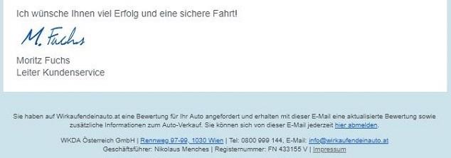 E-Mail abmelden Link