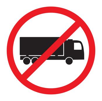 LKW verboten Zeichen