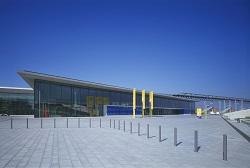 Ein Gebäude der Messe Stuttgart